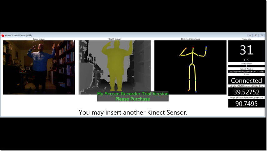 Kinect Skeleton Viewer with Angle