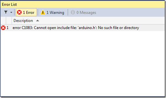 """Windows for iot """"cannot open include file arduino h"""