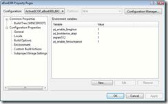 OS design environment variable selection